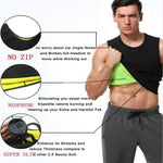 Belly Men Reducing Shaperwear Fat Burning Loss Weight Waist Trainer Sweat Corset