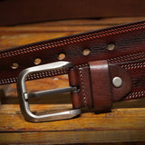 Mens Belts Luxury Full Grain Cowhide Genuine Leather High Quality Pin Buckle Masculine Strap
