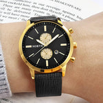 Mens Watches Top Brand Luxury Quartz Gold