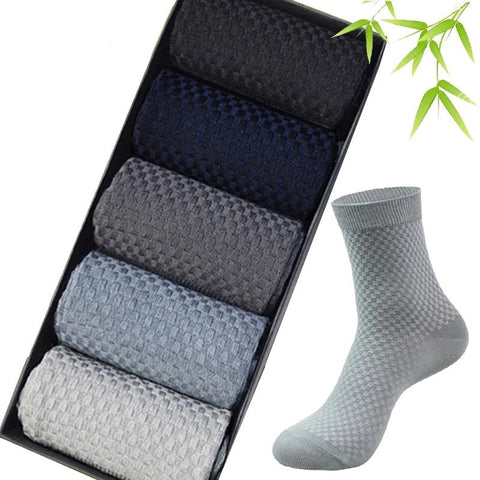 New Classic Deodorant Business High Quality Bamboo Fiber Compression Socks 5pairs / lot