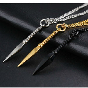 Stainless Steel Barb Pendant Necklace Chain Punk