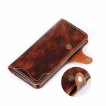 Galaxy Note 8 Vintage Style Genuine Leather Wallet Case With Card Slots