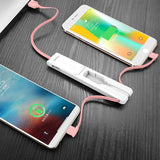 Mini USB Charger Cable 3 in 1 For iPhone XS Max X Samsung Galaxy S9 Note 9 Xiaomi Huawei
