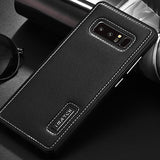 Premier Aluminum Metal Genuine Leather Case For Samsung Galaxy Note 8