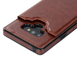 Leather Wallet Card Pocket Phone Cover Case For Samsung Galaxy Note 9 Note 8 S9 S9 Plus