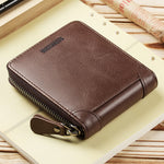 Luxury Vintage PU Leather Zipper Wallet with Coin Pocket Multi-card Holder