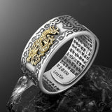Wealth Lucky Open Adjustable Pixiu Charm Ring