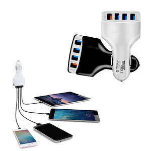 4 Port Car Usb Charger Quick Charge 3.0 for iPhone Xiaomi Samsung