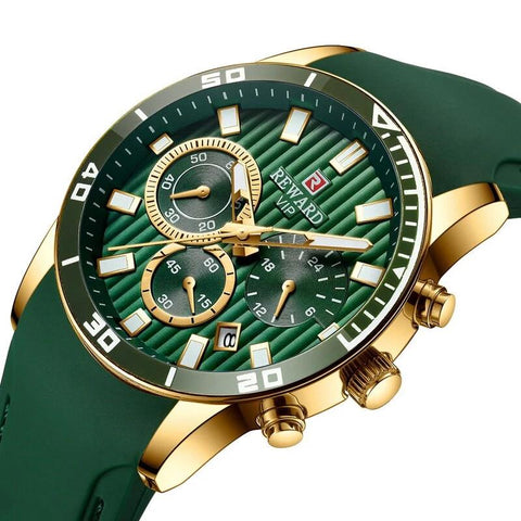 New Luxury Chronograph Quartz Wristwatch High Quality Leather Strap