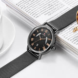 Top Brand Ultra-thin Luxury Business Fashion Wristwatch Waterproof