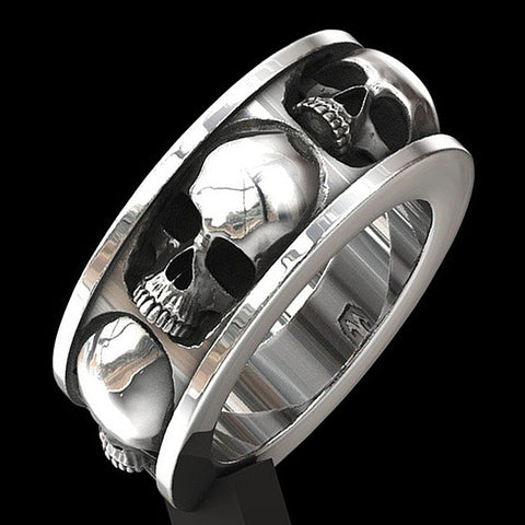 Retro Gothic Punk Classic Hip Hop Biker Ring