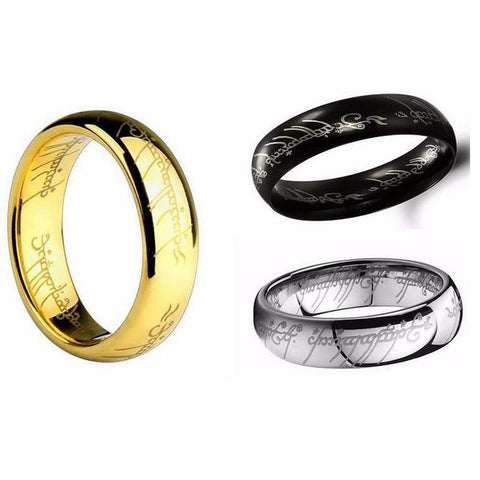 Titanium Steel Charm Ring Lord of the Rings for men And women
