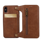 Leather Flip Case for iPhone X 10 Removable Card Slot