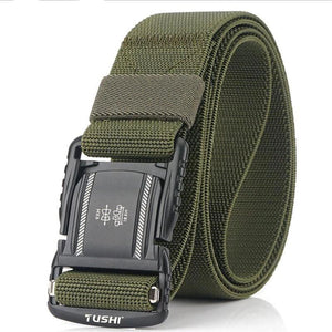 Military Combat Tactical Belts for Men Quick Release Metal Buckle