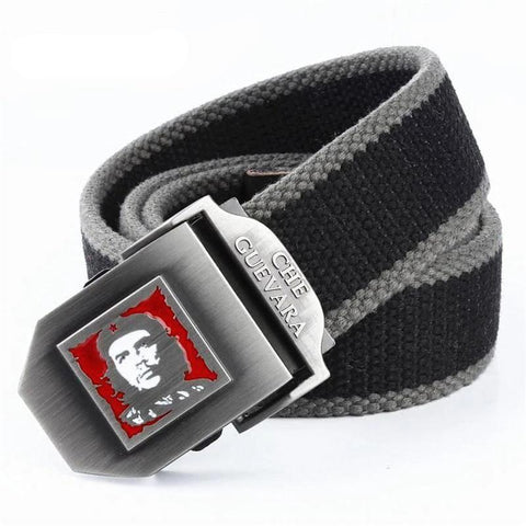Fashion Military Canvas Belt Che Guevara Metal Buckle