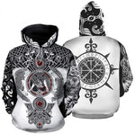 Unisex Viking Tattoo Art New Fashion 3D Print Hoodie