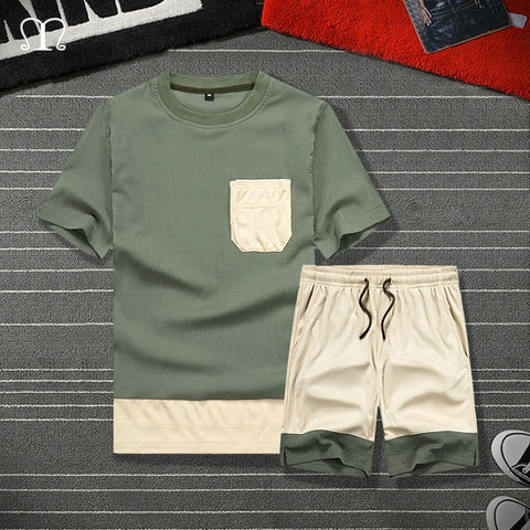 2020 Summer Casual Set Men's Sportsuit