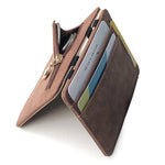 Ultra Thin PU Leather Zipper Wallet