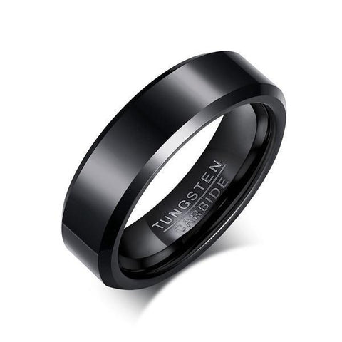 Black Color Pure Tungsten Carbide Rings for men