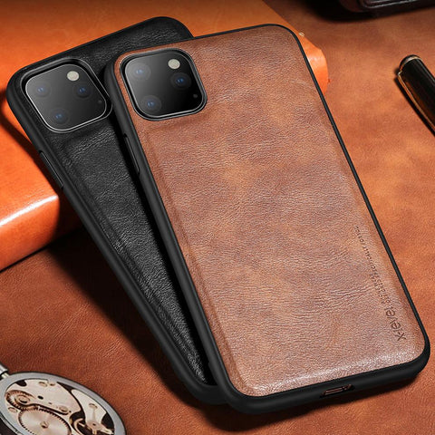 High Level Luxury Vintage Leather Business Style case For iPhone 11 Pro Max