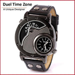 Unique Design Dual Time Zone Man Watch Fashion Casual Style