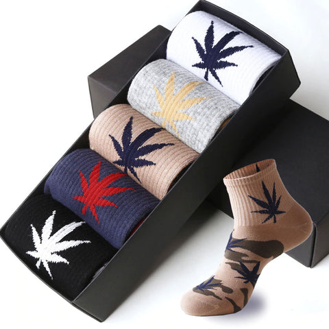 New High Quality Men's Leaf Camouflage Cotton Socks Harajuku Style