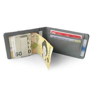 Slim Leather Frosted Fabric Multi Card Wallet