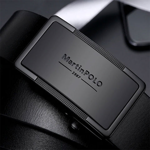 Luxury Genuine Leather Belt Automatic Buckle