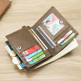 High Quality Business Retro Fashion Leather Wallet Multi-Card Multi-Function