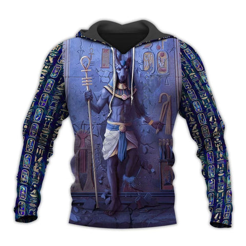 Anubis Ancient Egyptian God 3DPrinted Zipper/Hoodies/Sweatshirt for Men Women