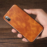 Business Vintage Leather Phone Case For iPhone XS XS Max 8 Plus