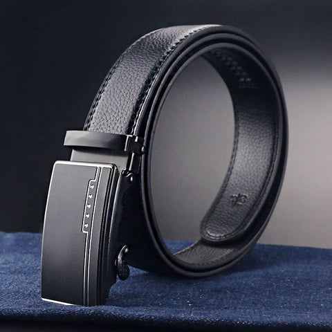 Luxury Business Leather Casual Belt Automatic Buckle