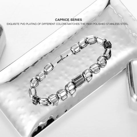 Luxury Freedom DIY Detachable Natural Stone Zircon Hematite Bracelet