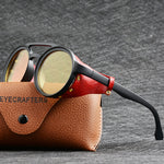 2020 NEW Men Steampunk Gothic Goggles With Leather Side Shades