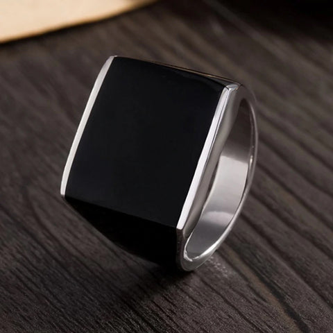 Retro Smooth Face Middle East Popular Ring for Man 100% Real 925 Silver