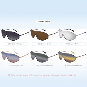 New Arrival Vintage Alloy Polarized Sunglasses Men Gradient Oversize Lens