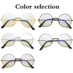 Vintage Round Metal Frame Personality College Style Clear Lens Eye Glasses