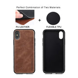 High Level Luxury Vintage Leather Business Style case For iPhone X XS Max XR