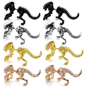 ZRM 2pcs/pairs Fashion Jewelry 3D Scary Monster Alien Stud Earring