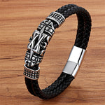 Totem Elegant Small Adorn Article Genuine Leather Bracelet Double Layer
