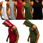 2020 Men's Cotton Sleeveless Hoodie Tank Top