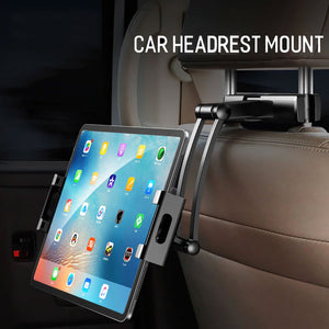 360 Back Seat Headrest Mounting Holder Tablet Universal Stretchable For Ipad Xiaomi Samsung