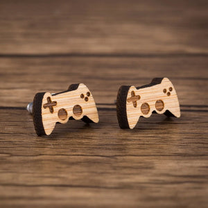 New Arrival Funny Game Controller Wooden Earrings