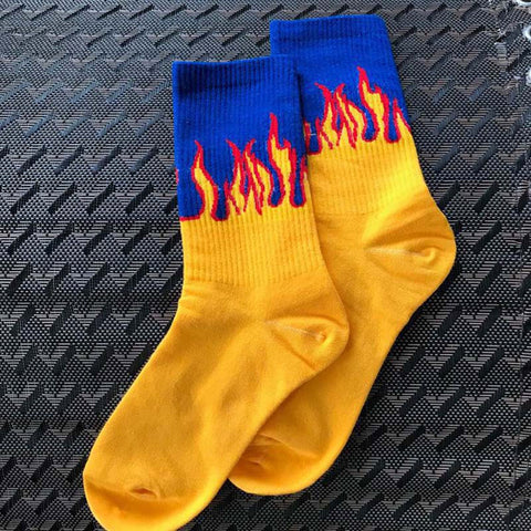 Unisex Flame Fire Sokken Novelty Hip Hop Harajuku Socks