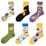 Autumn Winter Creative High Quality Fashion Lovely Illustration Funny Women Socks