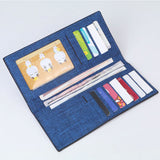 Fashionable Canvas Long Wallet Large Capacity