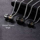 Stainless Steel Fitness Sports Pendant Gold Chain Necklace