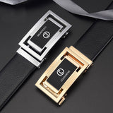 Casual Vintage Luxury Men Genuine Leather High Quality Automatic Buckle Dress Belt