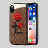 3D embroidery craft luxury brand new design case for apple iPhone X XS Max