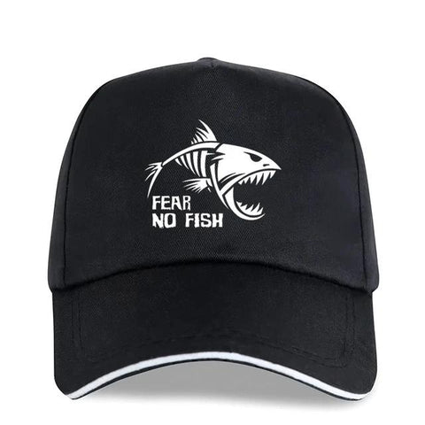 Skeleton Fish Bones Fear NO Fish Fishing Printed Cotton Adjustable Baseball Cap